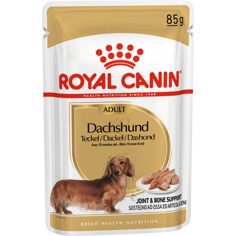 Royal Canin Dachshund Adult Dog Food Pouches 12 X 85g