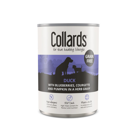Collards Hypo-allergenic Grain Free Adult Dog Wet Can With Duck 12 X 390g