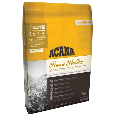 Acana Classics Prairie Poultry All Breeds & Life Stage Dog Food 2 X 11.4kg