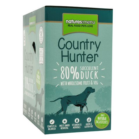 Natures Menu Country Hunter Superfood Grain Free Duck Dog Pouches 6 X 150g