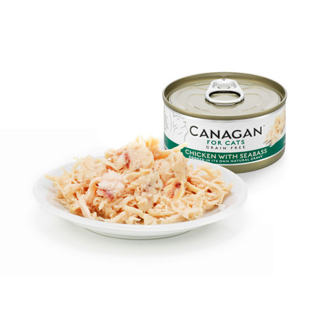 Canagan Chicken And Seabass Grain Free Wet Cat Food 12 X 75g