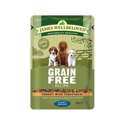 James Wellbeloved Grain Free Puppy Pouch With Turkey 12 X 100g