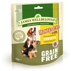 James Wellbeloved Minijacks Grain Free Lamb Dog Treats 10 X 90g