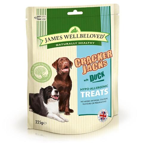 James Wellbeloved Crackerjacks Duck Dog Treats 6 X 225g