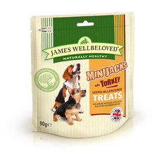 James Wellbeloved Minijacks Turkey Dog Treats 10 X 90g