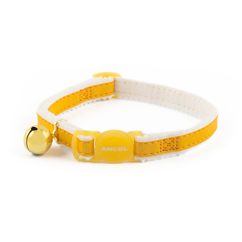 Ancol Safety Yellow Reflective Cat Collar 3 X