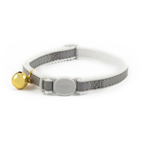Ancol Safety Silver Reflective Cat Collar 3 X