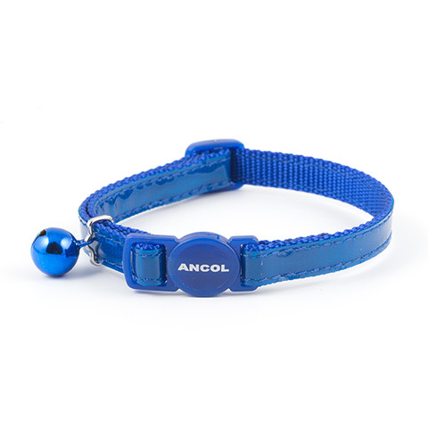 Ancol Reflective Blue Gloss Cat Collar 3 X