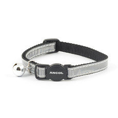 Ancol Reflective Silver Gloss Cat Collar 3 X  Single