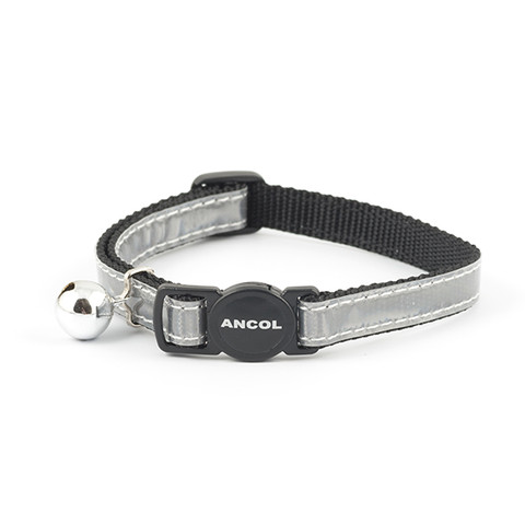 Ancol Reflective Silver Gloss Cat Collar 3 X