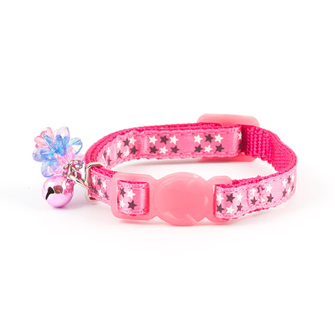 Ancol Stars Pink Cat Collar With Jewels 3 X