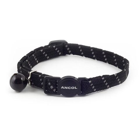 Ancol Reflective Black Softweave Cat Collar 3 X