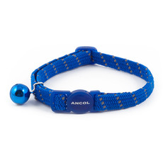 Ancol Reflective Blue Softweave Cat Collar 3 X