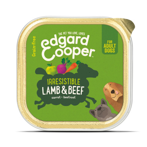 Edgard & Cooper Adult Grain Free Wet Dog Food With Lamb & Beef 11 X 150g