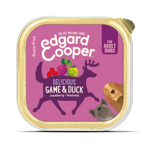 Edgard & Cooper Adult Grain Free Wet Tray Dog Game & Duck 11 X 150g