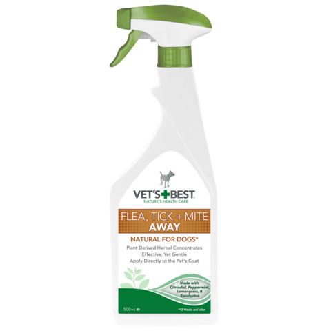 Vets Best Flea, Tick & Mite Away Spray 500ml 4 X 500ml