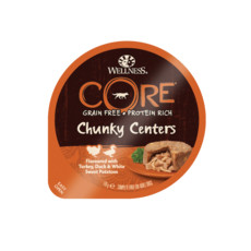 Wellness Core Chunky Centers Flavoured With Turkey, Duck & Sweet Potato Wet Adult Grain Free Dog Food 6 X 170g