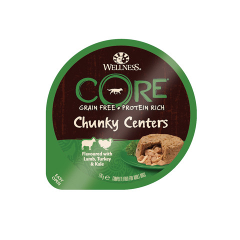 Wellness Chunky Centers Flavoured With Lamb, Turkey & Kale Wet Adult Grain Free Dog Food 6 X 170g