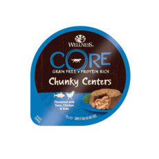 Wellness Core Chunky Centers Flavoured With Tuna, Chicken & Kale Wet Adult Grain Free Dog Food 6 X 170g