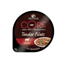 Wellness Core Tender Fillets With Beef Wet Adult Grain Free Dog Food 6 X 170g