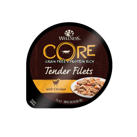 (d)wellness Core Tender Fillets With Chicken Wet Adult Grain Free Dog Food 6 X 170g