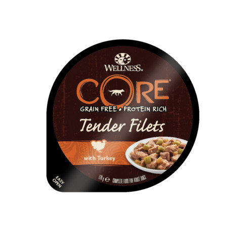 Wellness Core Tender Fillets With Turkey Wet Adult Grain Free Dog Food 6 X 170g