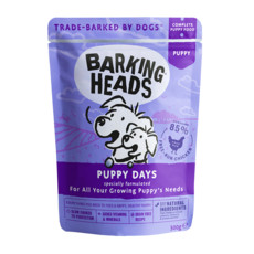Barking Heads Puppy Days Pouch Grain Free Wet Puppy Food 10 X 300g