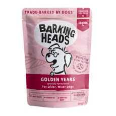 Barking Heads Golden Years Pouch Grain Free Wet Dog Food 10 X 300g