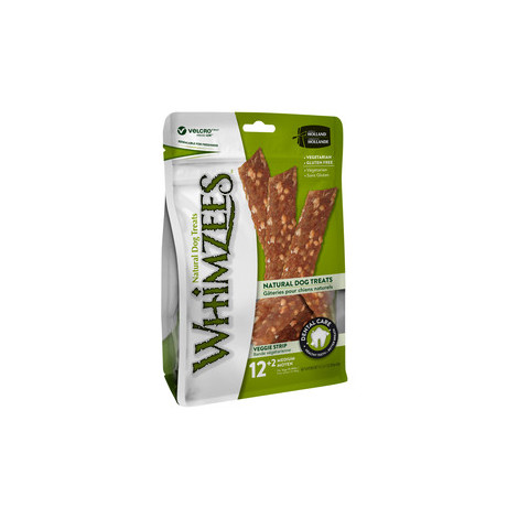 Whimzees Veggie Strip 150mm Dental Dog Chew Treat Pack 14 Pack