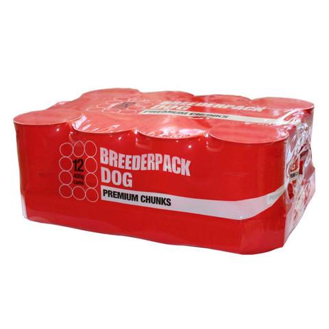 Breederpack Dog Premium Chunks Dog Food 12 X 400g