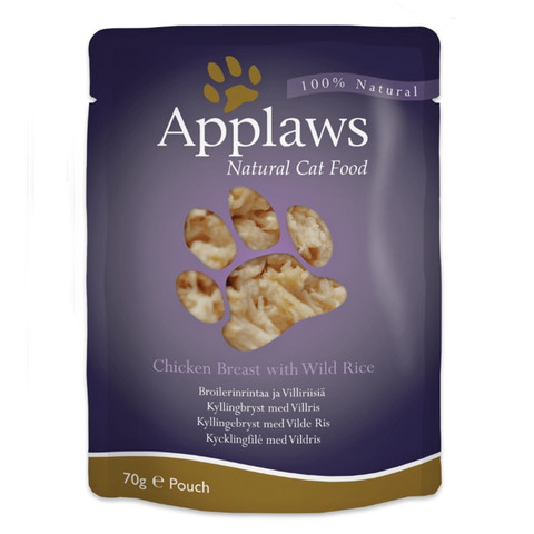 Applaws Natural Cat Pouches With Chicken And Rice In Broth 12 X 70g