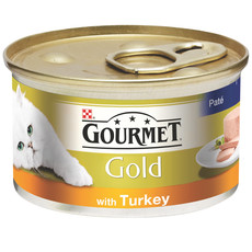 Gourmet Gold Cat Food Pate With Turkey 12 X 85g