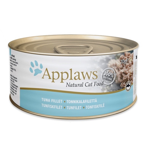 Applaws Natural Cat Tins With Tuna Fillet In Broth 24 X 70g