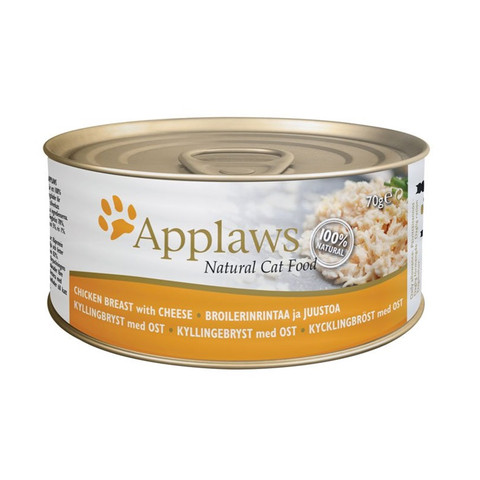 Applaws Natural Cat Tins With Chicken Breast And Cheese In Broth 24 X 70g
