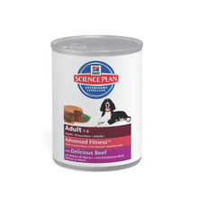 Hills Science Plan Adult Dog Food Can With Beef 12 X 370g