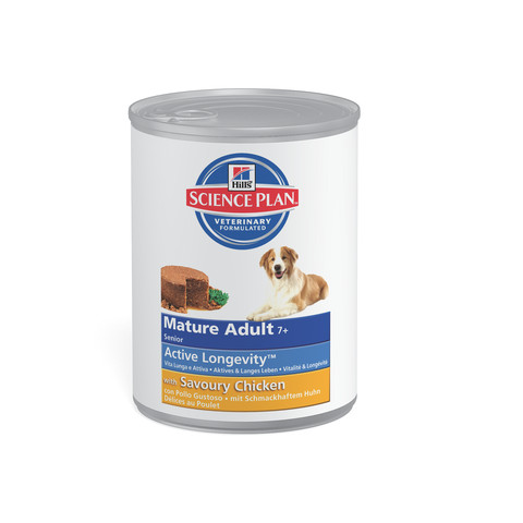 Hills Science Plan Mature Dog Food Can With Chicken 12 X 370g
