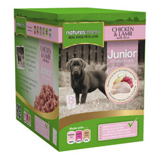 Natures Menu Puppy And Junior Pouch With Chicken Lamb And Rice 8 X 300g