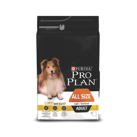 Pro Plan All Size Breed Optiweight Adult Light Sterilised Dog Chicken Dog Food 14kg