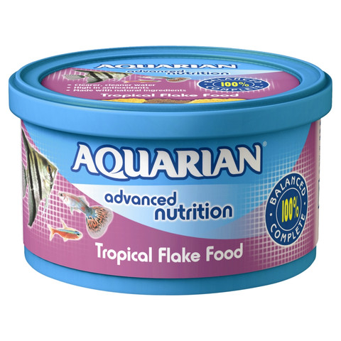 Aquarian Tropical Flake Fish Food 25g
