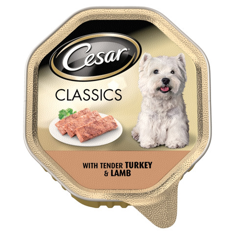 Cesar Tray Classics With Tender Turkey & Lamb 14 X 150g