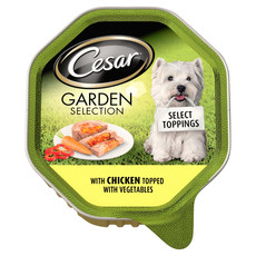 Cesar Tray Select Toppings Garden Selection With Chicken Topped With Vegetables 14 X 150g