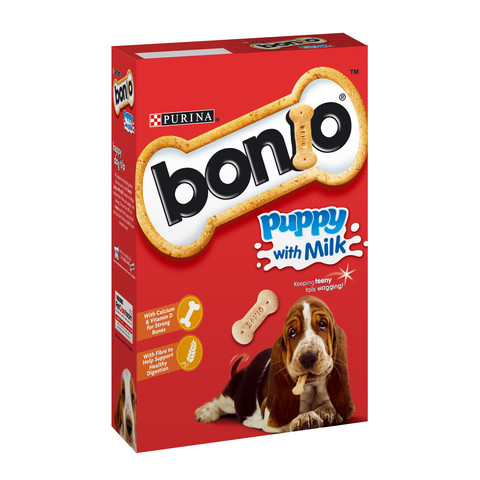 Bonio Puppy Biscuits With Milk 350g