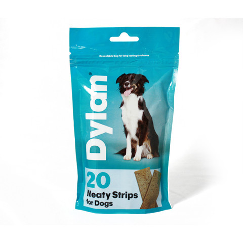 Dylan Meaty Strips Dog Treat 20 Pack
