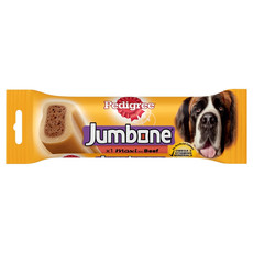 Pedigree Jumbone Large Dog Treat With Beef 210g