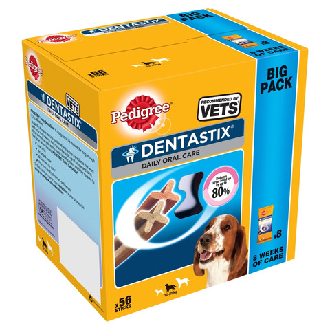 Pedigree Dentastix Daily Oral Care Dental Chews Medium Dog 56 Sticks