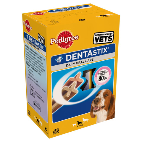 Pedigree Dentastix Daily Oral Care Dental Chews Medium Dog 28 Sticks