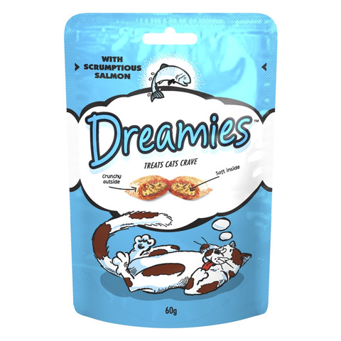 Dreamies Pouch Cat Treat With Scrumptious Salmon 60g