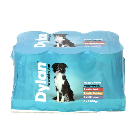 Dylan Supersized Working Dog Food Tins 6 X 1200g