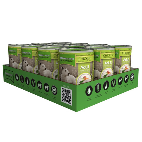 Natures Menu Natural Cans For Dogs With Chicken 12 X 400g
