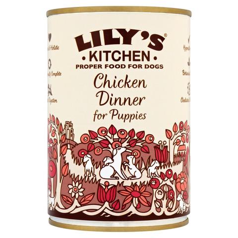 Lilys Kitchen Chicken Dinner For Puppies Grain Free Wet Dog Food 6 X 400g